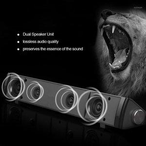 سلكي المتكلم بار الكمبيوتر شريط الصوت ستيريو USB بدعم مكبر الصوت مصغرة طويلة الصوت مع مركبتي الصوت الغنية باس للتلفزيون PC1