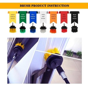 4pcs set Drill Power Scrub Clean Brush Electric Drill Brush Kit With Extension For Cleaning Car, Seat, Carpet, Upholstery Q wmtoCz