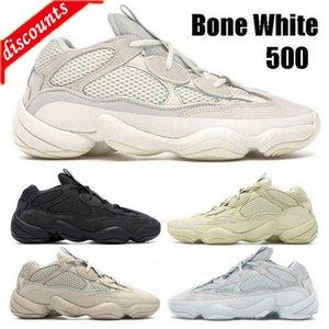 Top Stone Soft Vision Kanye West Desert Rat 500 Men Women Running Shoes Bone White Salt Super Moon Yellow Blush Sport sneakers
