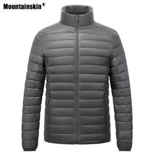 Mountainskin Winter Men's Hiking Down Jacket Outdoor Sports Light and Thin Windbreaker Camping Climbing Trekking Male Coat Va689