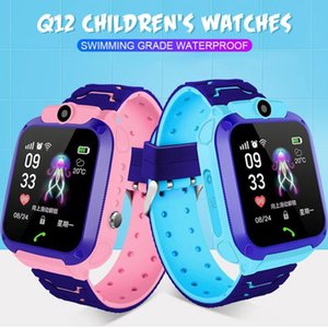 Q12 Kids Smart Watch LBS GPRS SOS Waterproof Tracker Smart Watch for Kids Anti-lost Support SIM Card Compatible for Android Phone with Retai