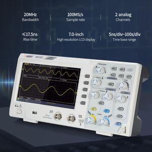SDS1022 راسم التخزين الرقمي الذبذبات 2 قناة 20MHZ 100MS / ق الذبذبي مع شاشة LCD التحقيق لراسم