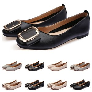 ladies flat shoe lager size 33-43 womens girl leather Nude black grey New arrivel Working wedding Party Dress shoes Eight