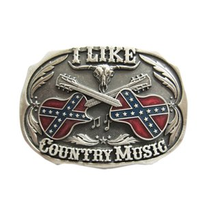 New Vintage Silver Plated Western Country Music Belt Buckle Boucle de ceinture BUCKLE-MU069SL