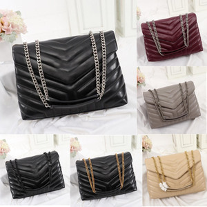 Designer Handtaschen Square Fat Fat Louou Kette Tasche Echte Leder Damen Tasche Große Kapazität Umhängetaschen Hohe Qualität Quilted Messenger Bag