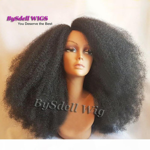 Beauty Afro Frizzy Kinky Curly Hair Lace Front Wig Long Synthetic Heat Resistant African American Curly Lace Front Wigs for Black Women
