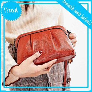new cloud women's soft Leather headcoat cowhide slung one shoulder small shell bag