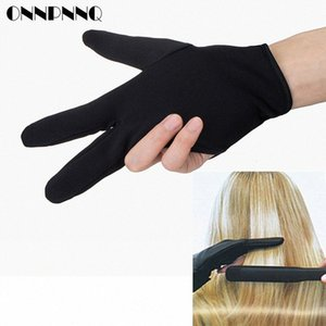 Cabeleireiro Três dedos de luvas anti-quente para luvas Flat Iron resistente ao calor Alisamento Curling Luva Styling domésticos WneQ #