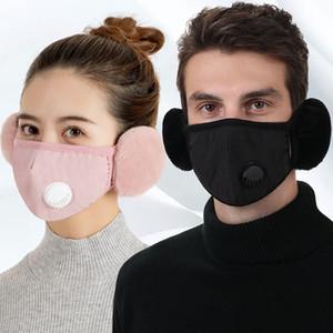 Invierno Mantener caliente con oreja Muffs Face Masks Moda Respiración de la válvula Diseño Frío transpirable espesado Outdoor Ciclismo Montar Mascarilla