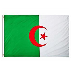 Bandera de alta calidad de Argelia 3x5 Partido Nacional Festival de 90x150cm Banner FT regalo 100D Poliéster Banderas de interior al aire libre impresos y banners