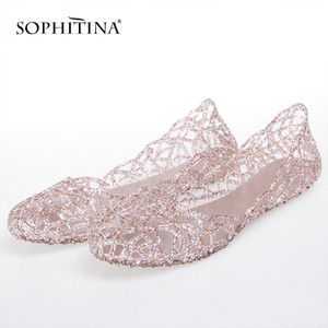 Cores SOPHITINA especiais chinelos confortáveis Sapatos de ponta macia Rodada de Mulheres New Chinelos SO300 Y200423