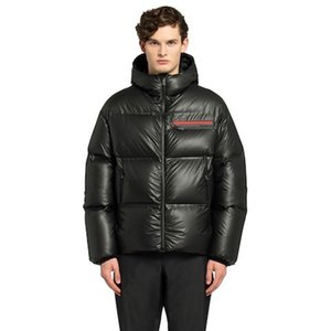 20FW Зимний теплый Открытый Outwear ветрозащитный водонепроницаемый с капюшоном вниз куртки Мода High End пальто Street Простой черный пуховик HFYMYRF102