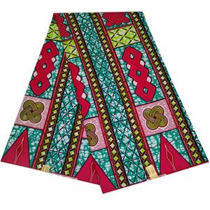 Son Balmumu Baskı Kumaş Afrika Ankara Tissu Afrika Balmumu Polyester Malzeme Kadınlar için Elbise 6ayrds T200529