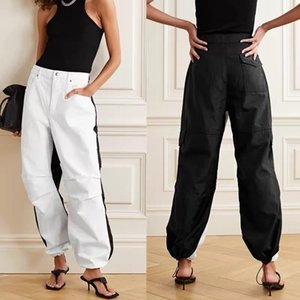 Mode couleur Patchwork Femmes Pantalon en denim taille haute en vrac pieds élastiques Slim Lady Jeans Femmes sauvages élégant Pantalon 2020 Nouveau