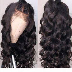 Pre щипковой Silk Top Lace Фронтальной Парик Свободных волны перуанского Девы волос Silk Top Glueless Полный парик фронт шнурок с волосами младенца