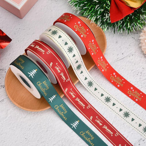 Handicraft Multi Printed Satin Grosgrain Ribbons DIY Sewing Accessory Gift Wrap Ribbon for Home Wedding Christmas Decorations