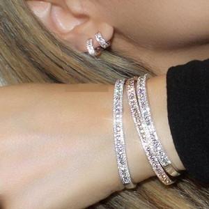 2021 мода шарм рождественские подарок вымощены крошечный CZ Сисской Bling роскошь высококачественные женские девушки деликатные сережки браслеты