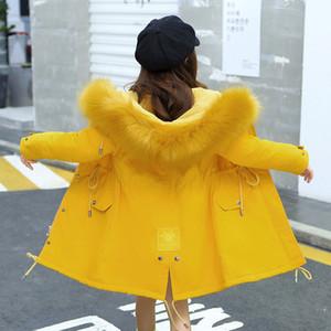 OLEKID 2020 Русский Зимняя куртка для Плюс Velvet Теплый капюшоном детей Верхняя одежда пальто 7-14 лет Дети девочки-подростки Parkas