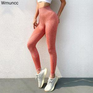 WMUNCC Pantalones de yoga Mujeres Deportes Cintura alta Scrunch Broustretchy Gimnasio Encuadre de cuerpo entero Leggings Fitness Correr