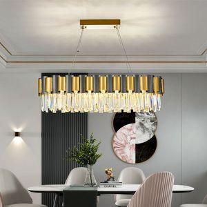 New crystal chandelier decorative light creative living room  home lighting luster cristal rectangular LED chandelier