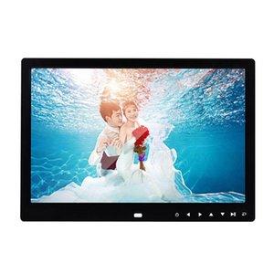 12-Zoll-HD-Digital Photo Frame Fernbedienung Smart Picture Musik-Player mit Schreibtisch Rahmen Kalender HD Photo Frames