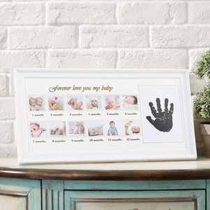 12 months Picture Photo Frame Photo frame Decorations Babyroom Love Baby Memorial Growing Handprint Footprint Frames