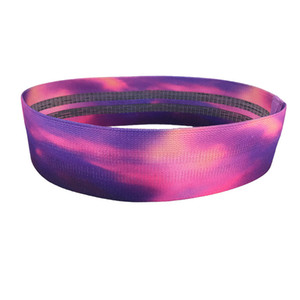Customized 120LB starry sky pattern hip ring polyester cotton fitness resistance band pull latex ring yoga hip training supplies
