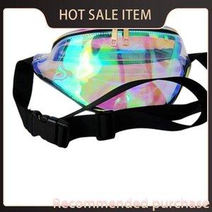 Rainbow Purse Bag Waist FANNY Hologram Fashion 1Pcs Pack PACK Caker Chic Bum Punk Jbnqq Transparent Uxcbo