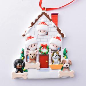 Ornamento de la Navidad Survivor personalizada familia 2 3 4 5 Resina decoraciones enmascarado árbol DIY Regalo colgante colgante DDA669