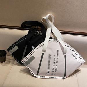 Design Kreative Masken Form Umhängetasche Großkapazität Mode Umweltschutz Handtasche Kleidung Aufbewahrungstaschen Geschenke LJJK2509