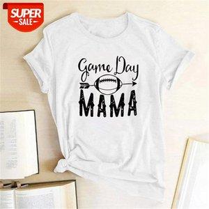 Yüksek Kaliteli Kadın T-Shirt Oyun Günü Mama Kadınlar Kısa Kollu O Boyun Yaz Harajuku Tees T Gömlek Camisetas Mujer Manga Corta # SF3L