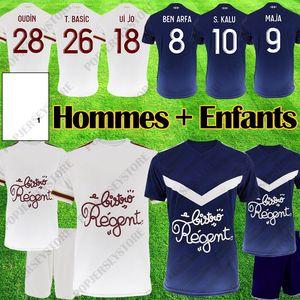 Maillots Girondins de Bordeaux 2019 2020 Maillots de football BRIAND S KALU KAMANO BENITO UI JO chemises Bordeaux 19 20 uniformes de kits de football pour enfants