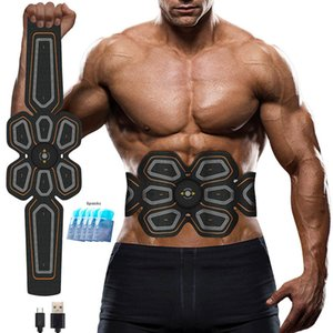 queen66 Abs Stimulator Muscle Toner EMS Press Trainer Abdomen Electrostimulation USB Charged Fitness Home Workout Muscle Toning Belt