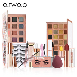 O.TWO.O Makeup Set 13 pcs Makeup For Woman Eyeshadow Palette Eyebrow Pencil False Eyelashes Eyebrow Soap Cosmetic Kit
