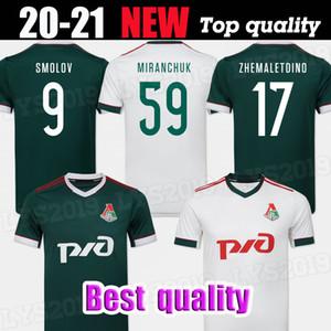 20/21 Lokomotiv Moscou maillot de football 2020 Accueil # 6 Barinov # 7 Krychowiak # 9 Smolov # 17 Zhemaletdinov uniformes maillot de football