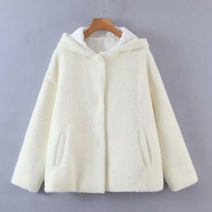 Kumsvag Femmes Automne Vestes en molleton Vêtements d'extérieur 2021 Casual Casual Capuche recouverte Button Fashion Manteaux chauds chauds XZ2617
