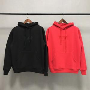 Kith box klassische hoodie männer frauen hochwertige stickerei kith hoodies street skateboard sweatshirts mode casaul kith pullover