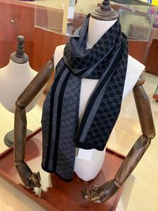 패션 남성 스카프 롱 사이즈 180x30cm 고품질 7752 캐시미어 스카프 겨울 남성 스카프 선물 디자이너