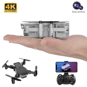Profession MIni Drone 4K with HD Camera WIFI 1080P Double Camera Follow Me Quadcopter FPV Drone Long Battery Life Toy For Kids