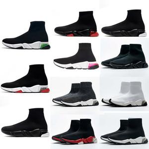 2021 Designer Männer Triple S Frauen Geschwindigkeit 2.0 Gestrickte Stretch Sohle Trainer Socke Boots Socken Boot Sportschuhe Schuh Lässige Turnschuhe