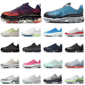 Nike Air VaporMax 360 laufende Schuhe der Frauen Luftmaxairmax Varsity Royal University Red Mens Trainer Laser bleu Outdoor-Creme Sport-Turnschuhe