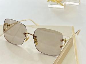 31514 Moda Hombres Mujeres Gafas de sol Envolver Gafas de sol Lentes Diamond Lentes Anti-UV Lentes Top Metal Piernas Estilo de verano Cubierta protectora de calidad