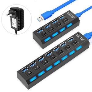 PC 컴퓨터 액세서리 스위치와 USB 허브 USB 3.0 HUB 분배기 3 0 멀티 포트와 전원 어댑터 다중 3 HAB
