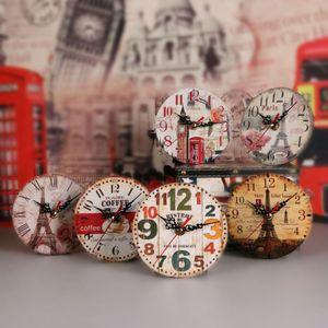 12cm 벽 시계 나무 시계 공예 나무 시계 거실 거실 홈 장식 벽시계 시계 HWB4019