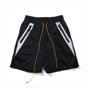 2020SS spring and summer new Rhude drawstring reflective stitching printing men's casual drawstring shorts beach pants