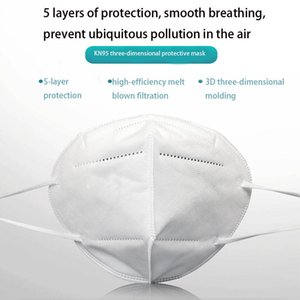 KN95 mask  face masks KN95 protective mask anti-droplet mouth and nose mask with meltblown black color customized FFP2 standard