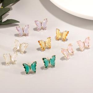 Jia Farbe Schmetterling Frauen-Mode einfach Schmuck Europa und den Vereinigten Staaten Cold Wind Ohrringe 925 Reines Silber-Ohrringe 0.