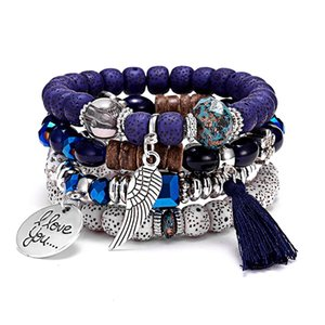 Female Vintage Bracelet Crystal Bead Bracelets For Women Jewelry Bohemia Tassel Natural Stone Charms Wristband Gift