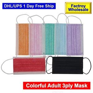 قناع الألوان بالجملة الكبار الغبار قناع الوجه الأنف 3plymask الصانع 8 فلتر 3ply النسيج الشحن dhl free fast gas vkmlk