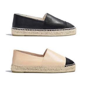 Classics Mocassins Femmes Espadrilles Plat Chaussures Toile et véritables mocassins en peau d'agneau deux tons Casquette Toine Casual Chaussures Casual par Home011 02
